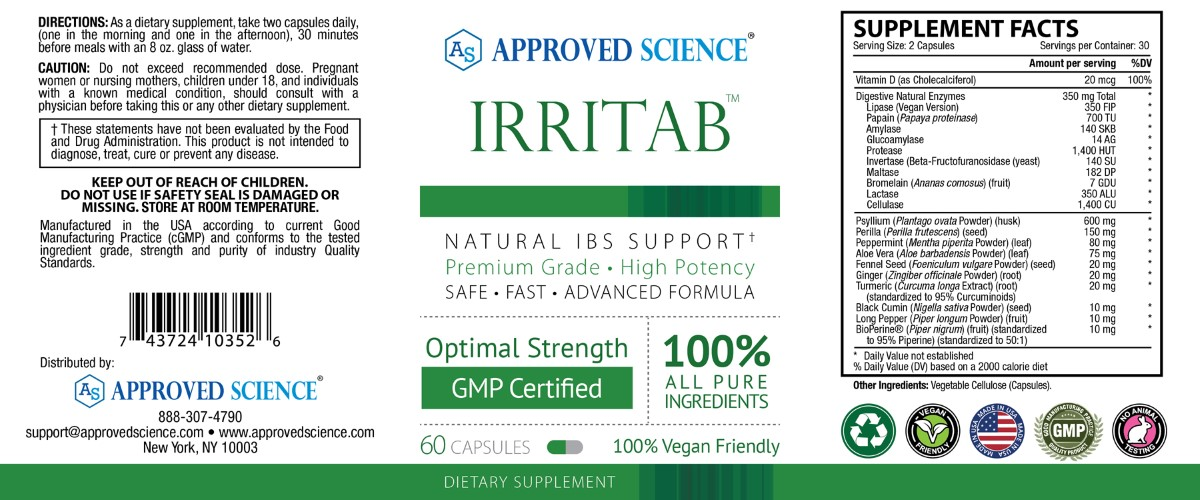 Irritab Supplement Facts